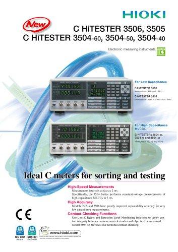 HIOKI 3504 Series C HiTESTERs - HIOKI E E  CORPORATION - PDF