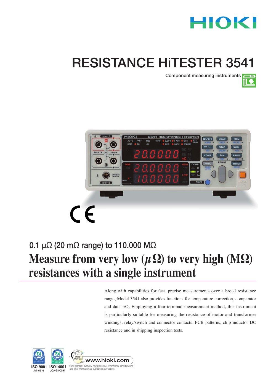 Hioki Digital Ir4056 20 M Ohm Hitester Update Daftar Harga Infrared Thermo Hi Tester Ft3701 3541 Resistance 1 8 Pages