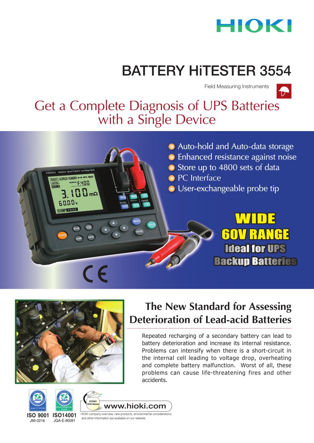 HIOKI 3554 BATTERY HiTESTER - 1 / 4 Pages