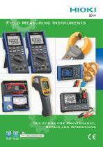 HIOKI Field Measuring Instruments 2012