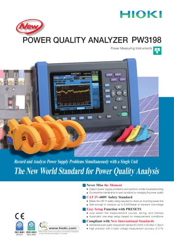 HIOKI POWER QUALITY ANALYZER PW3198
