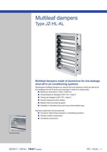 JZ-HL-AL - TROX - PDF Catalogs   Technical Documentation   Brochure