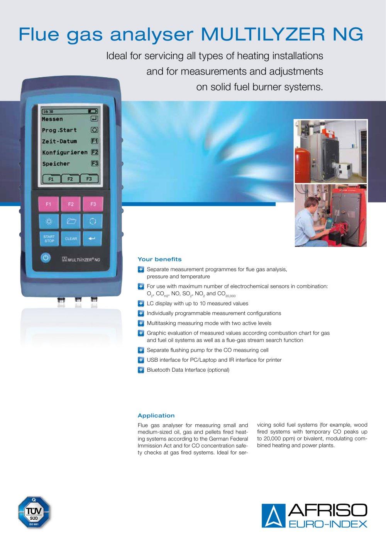 MULTILYZER NG - Flue gas analyser - AFRISO-EURO-INDEX - PDF ...