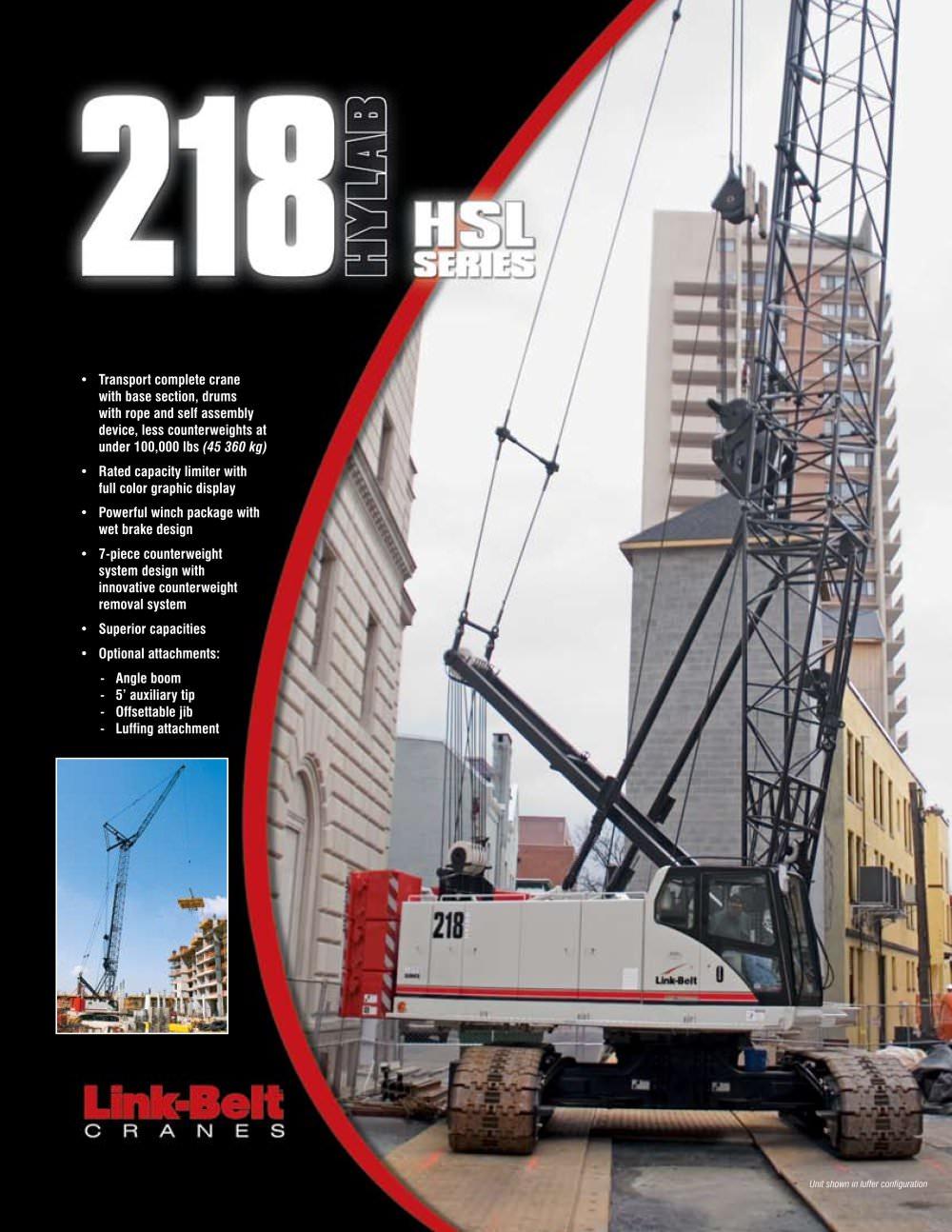 218 hsl link belt pdf catalogue technical documentation brochure rh pdf directindustry com Manitowoc Cranes 10 Wheel Crane