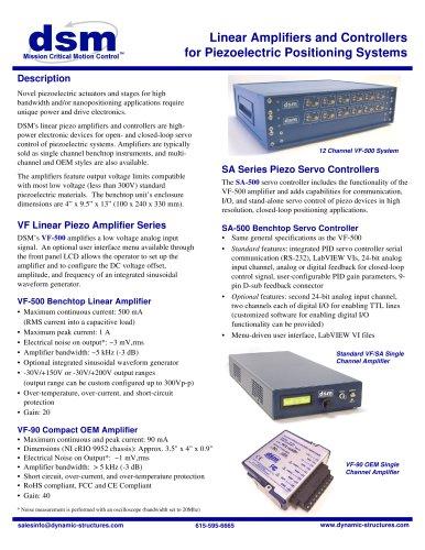 SA-500 - DSM - PDF Catalogs | Technical Documentation | Brochure