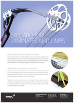 Exel Archery Laminates and Limbs, data sheet