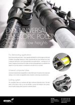 Exel Universal Telescope Pole, data sheet