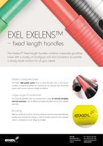 Exelens fixed lenght Composite Handles, data sheet