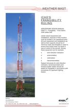 Weather Mast, data sheet