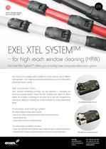 XTEL System for high reach window cleaning (HRW), data sheet