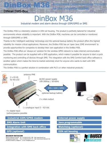 Datasheet DINBox_M36 - Bausch Datacom - PDF Catalogs
