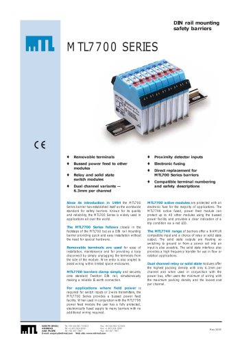 Outstanding Mtl 7700 Series Mtl Instrument Pdf Catalogs Technical Wiring 101 Orsalhahutechinfo