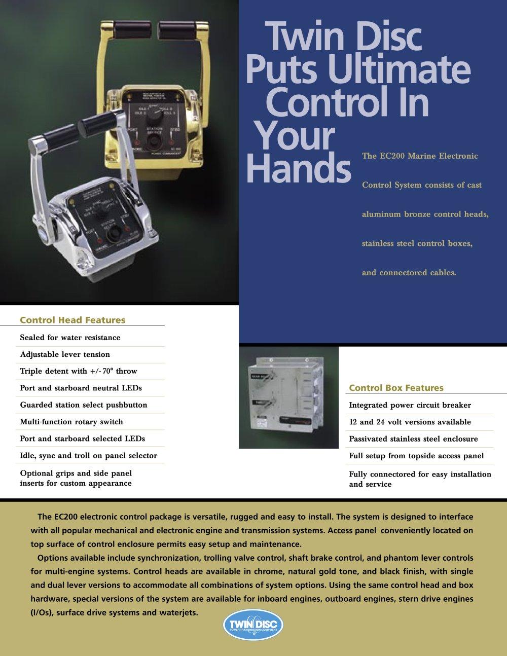 twin disc ec200 electronic controls twin disc pdf catalogue rh pdf directindustry com twin disc ec300 installation manual twin disc ec300 operator's manual