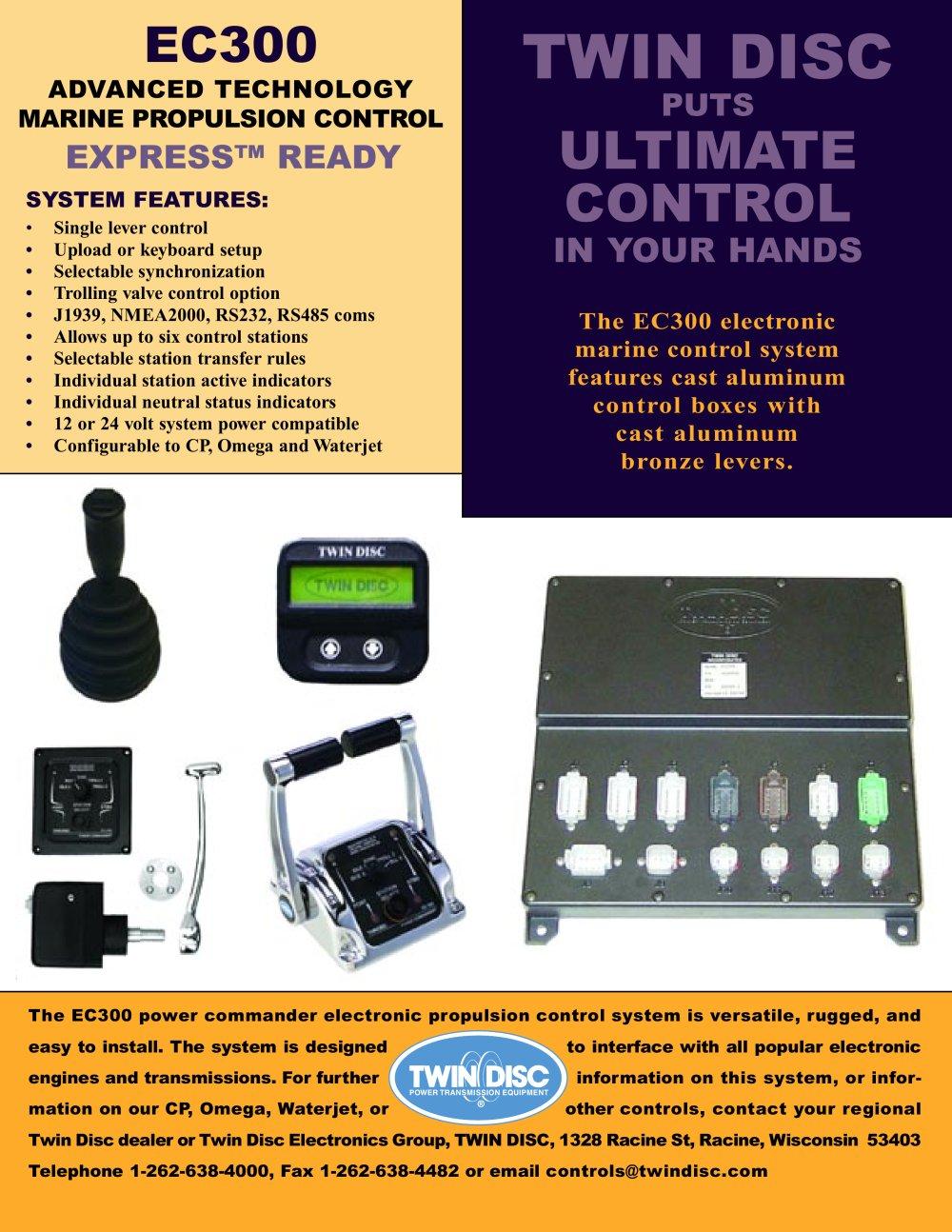 twin disc ec300 electronic controls twin disc pdf catalogue rh pdf directindustry com twin disc ec300 operator's manual Medtronic EC300