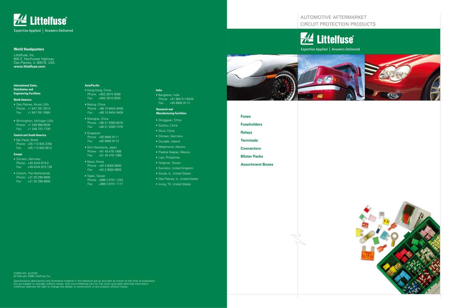 Littelfuse International Automotive Aftermarket Catalog Fuse Box Holder 1 30 Pages