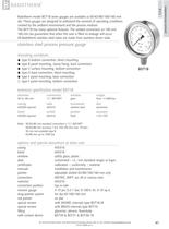 BDT18 - All stainless steel pressure gauge