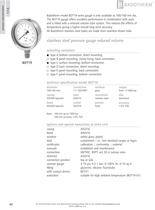 BDT19 - All stainless steel reduced volume pressure gauge