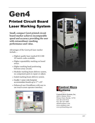 Printed Circuit Board Laser Marking System - Control Micro Systems