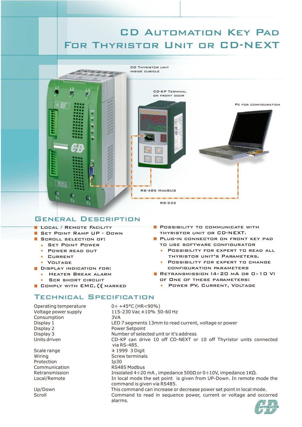 Cd Automation Key Pad For Thyristor Unit Or Next Cdautomation Scr High Power Alarm Driver Circuit Design 1 2 Pages
