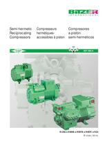 Semi-hermetic Recip. Compressors (60Hz, IP-Units) KP-105-4