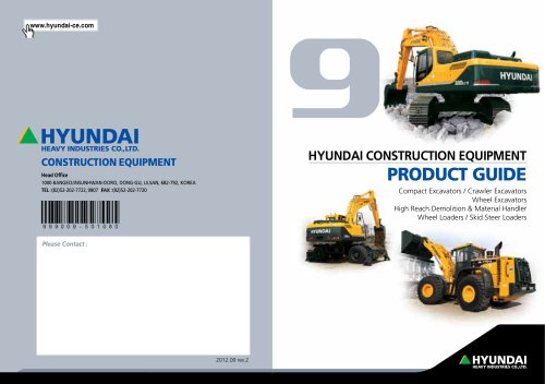 Excavator 9sries hyundai heavy industries pdf catalogue excavator 9sries sciox Image collections