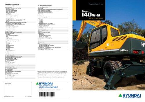hyundai crawler excavator robex 145cr 9 complete manual