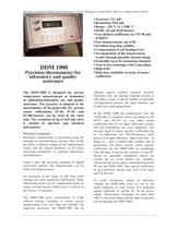 DDM 1000: Precision thermometer for laboratory and quality assurance