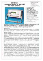 DDM 900: Precision thermometer for laboratory and quality assurance