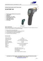 Infrared-Thermometer with double-laser sighting ScanTemp 485