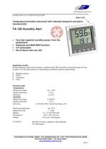 Temperature/Humidity instrument with alarm TA100