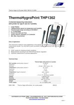 Temperature/Humidity instrument with printer TP1362