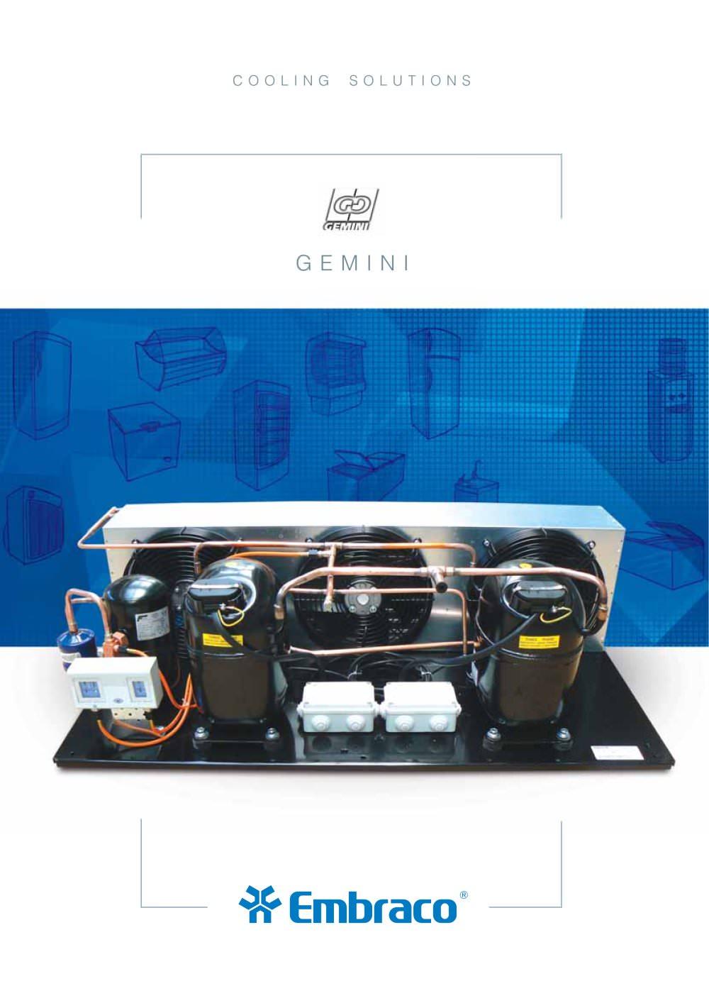 gemini embraco pdf catalogue technical documentation brochure rh pdf directindustry com Gemini Compressors Parts Gemini Compressor Sizing Program