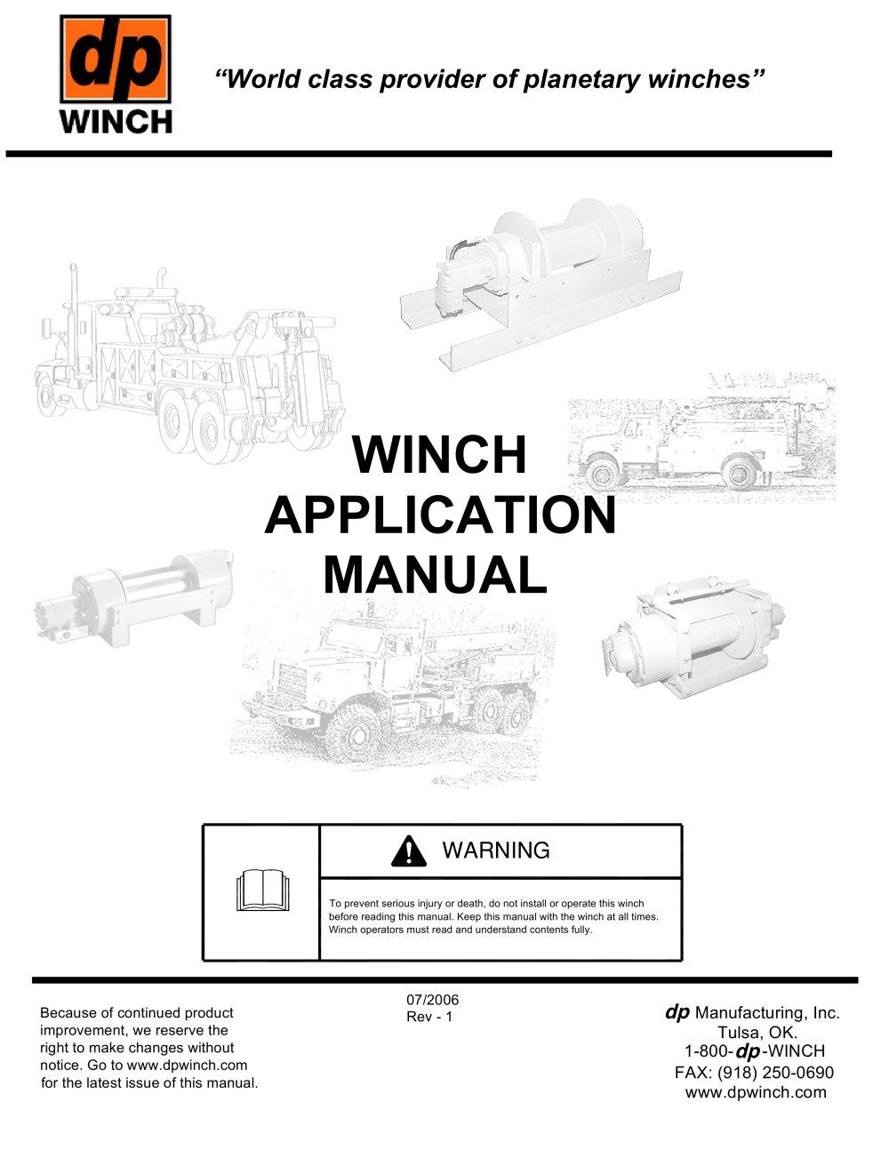 winch application manual 24335_1b winch application manual tulsa winch pdf catalogue technical
