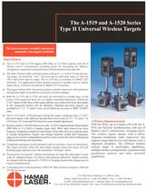 The A-1519 and A-1520 Series Type II Universal Wireless Targets