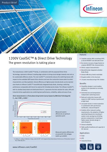 Product Brief 1200V CoolSiC N SiC JFET - Infineon Technologies