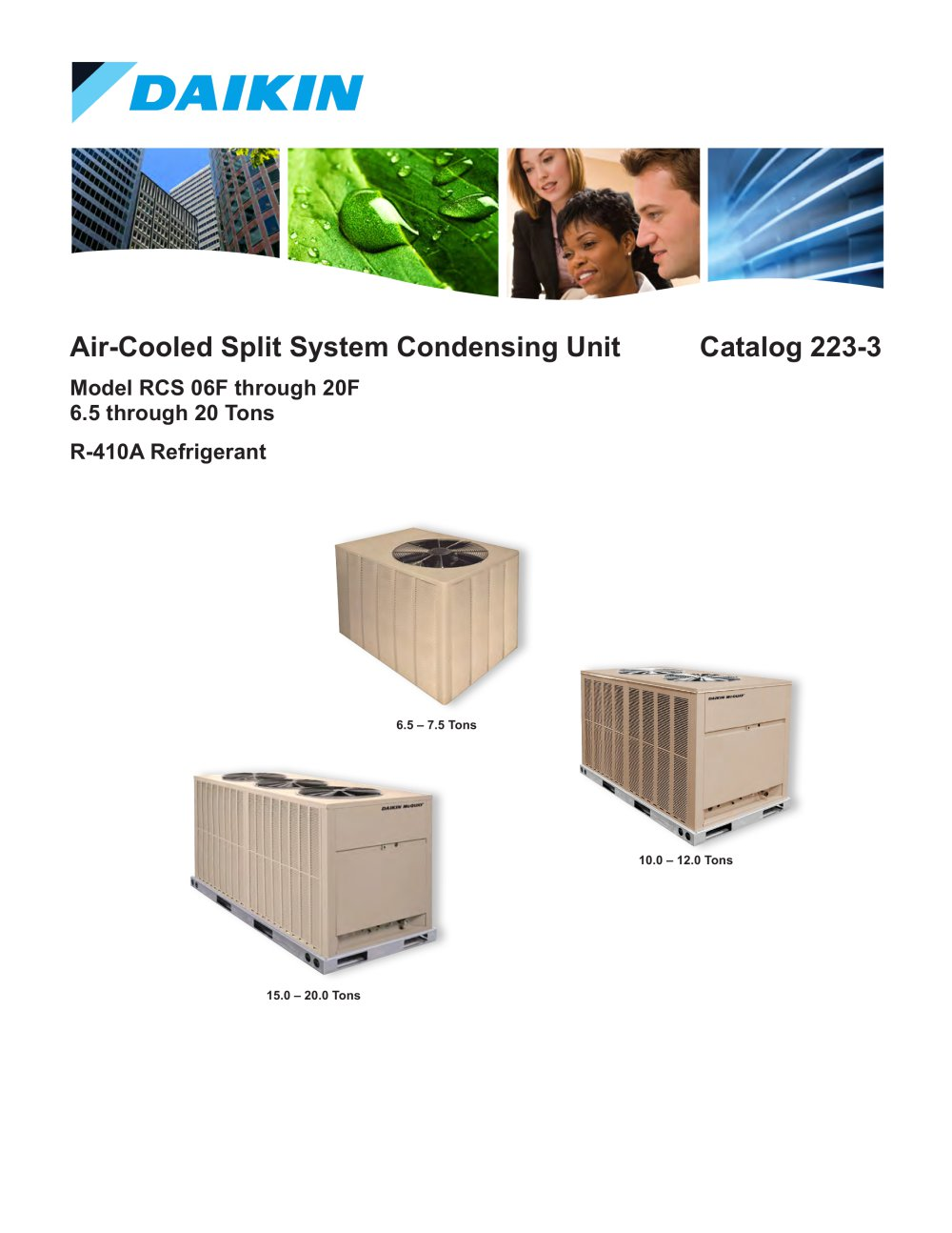Cat 223 3 Air Cooled Split System Condensing Unit 6 5 To 20 Ton 1 22 Pages