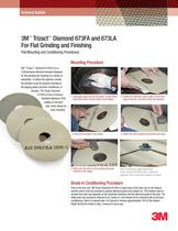 3M? Trizact? Diamond 673FA and 673LA for Flat Grind and Finish