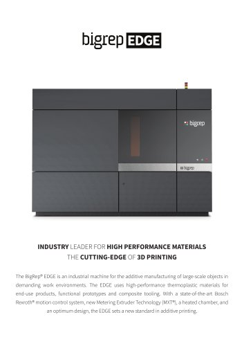 BigRep EDGE - BigRep GmbH - PDF Catalogs | Technical Documentation
