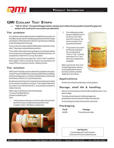 QMI Cooling Test Strips
