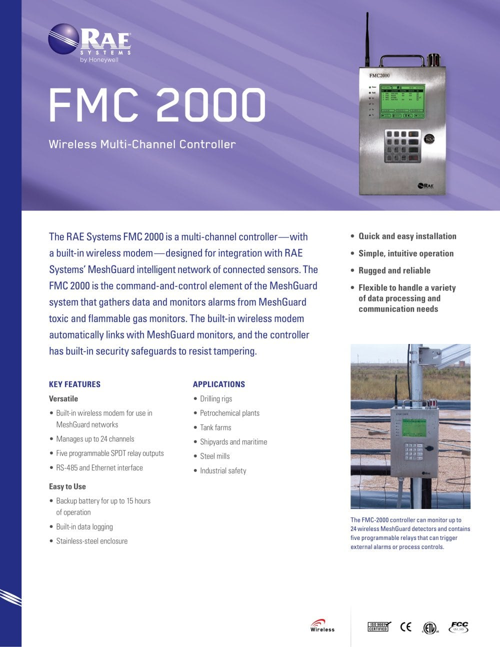 Fmc 2000 Rae Systems Pdf Catalogue Technical Documentation Dpdt Relay Datasheet 1 2 Pages