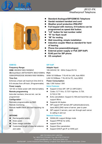 Industrietelefon JR101-FK