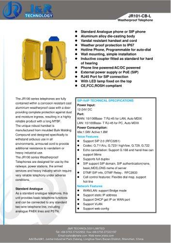 JR101-CB-L Emergency Tunnel Telephone