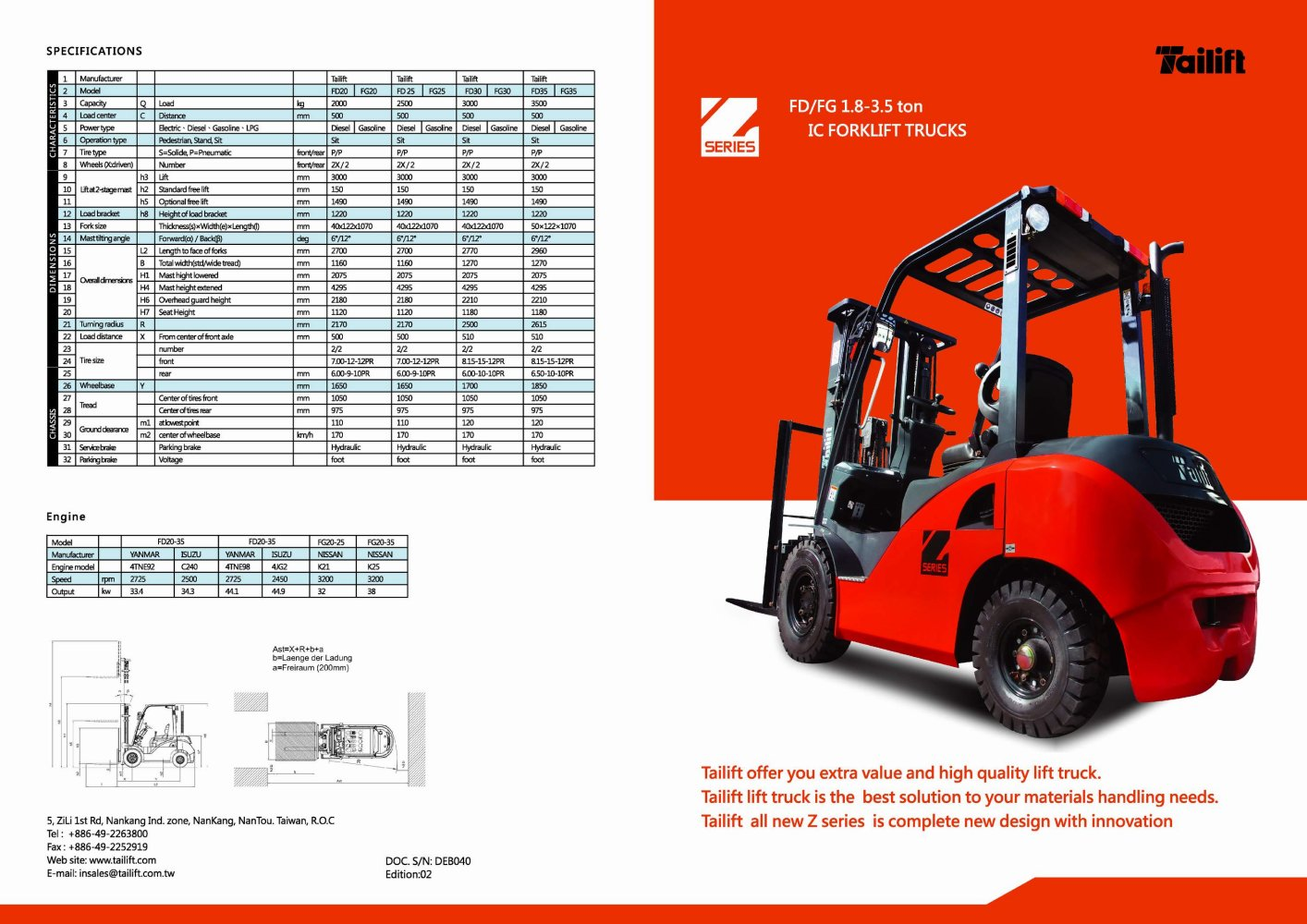 Fork lift truck: technical specifications, features and types 23