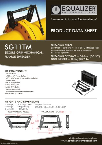 SG11TM Secure-Grip Flanschspreizer