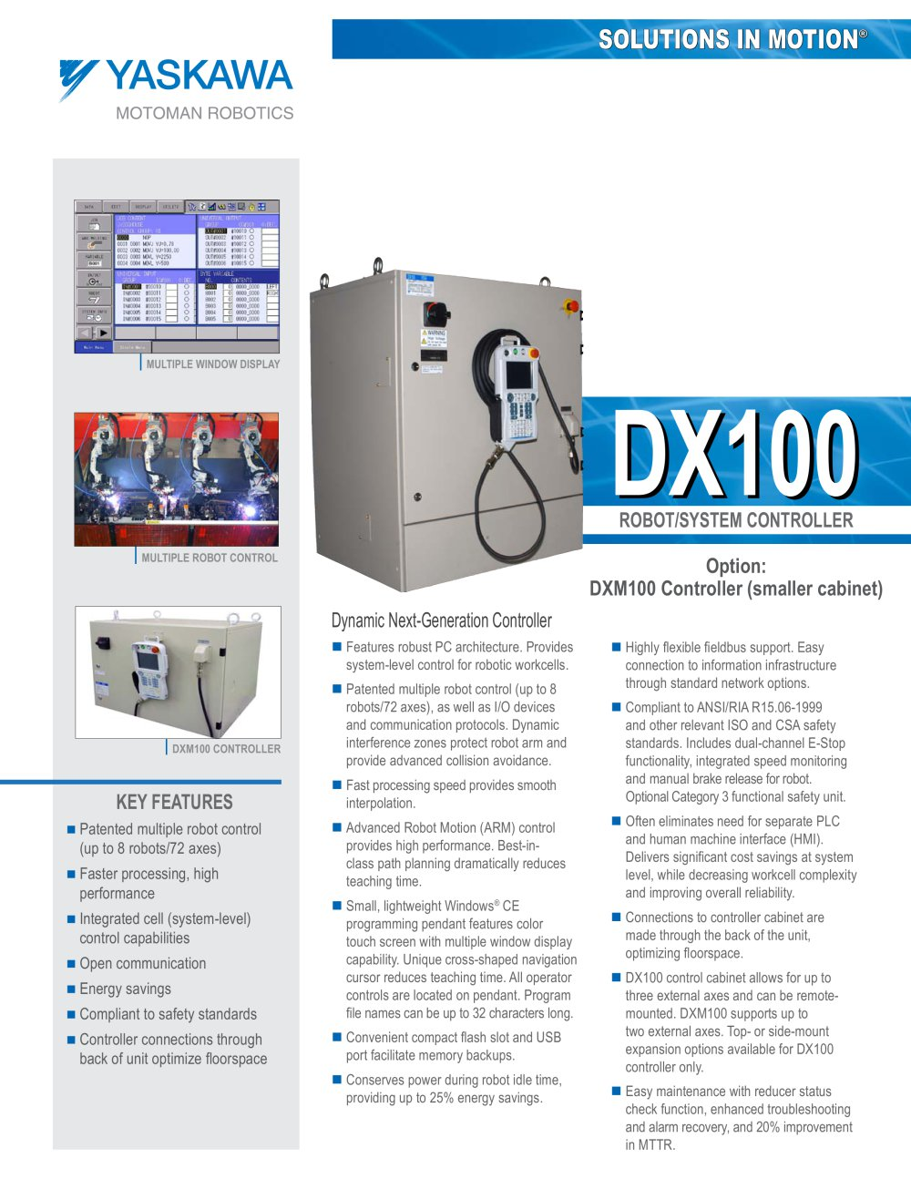 dx100 motoman pdf catalogue technical documentation brochure rh pdf directindustry com Motoman Robot Controllers Motoman Robot Manuals