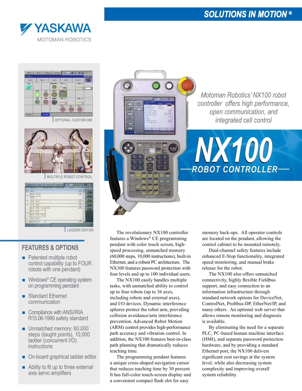 nx100 controller motoman pdf catalogue technical documentation rh pdf directindustry com Ring Programming Manual motoman nx100 advanced programming manual