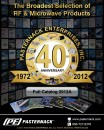 2012A Pasternack Enterprises RF, Microwave and Fiber Optics Catalog 296 Pages.