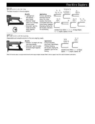Fine-Wire Staplers