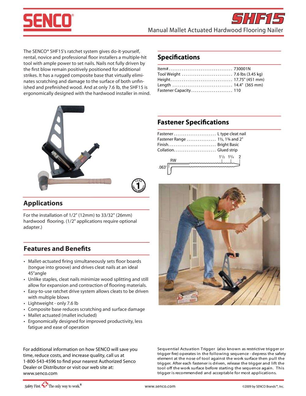 Hardwood Floor Stapler tools accessories highpro tools highpro staplers high pro fs 50 pneumatic flooring stapler Shf15 2 Manual Mallet Actuated Hardwood Flooring Nailer 1 1 Pages
