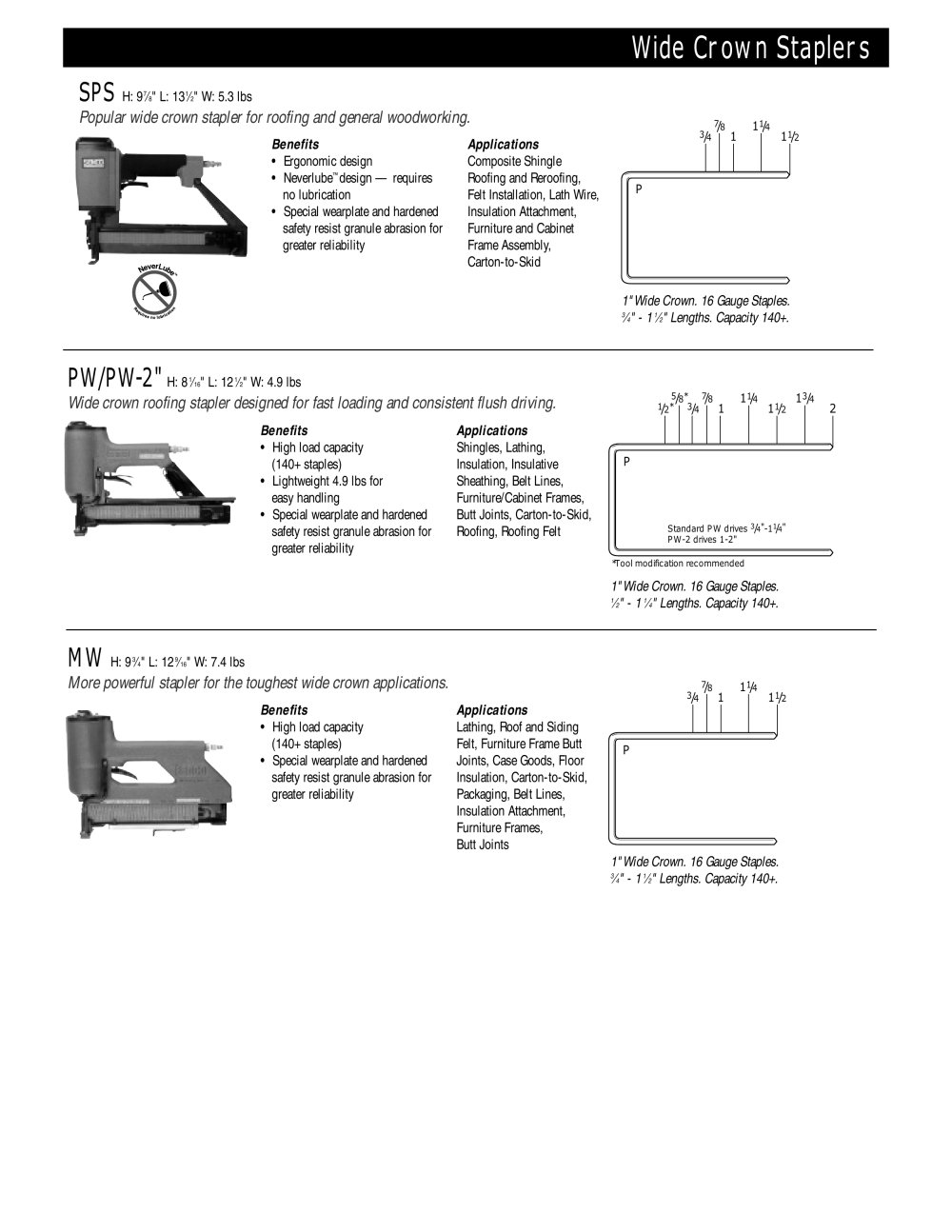 widecrown staplers 1 1 pages